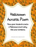 Halloween Fun Acrostic Poem