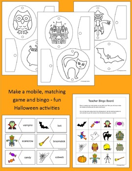 Halloween Activities, Puzzles and Games for elementary students and ESL EFL