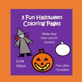 Halloween Coloring Pages- Five Little Pumpkins- Make Your