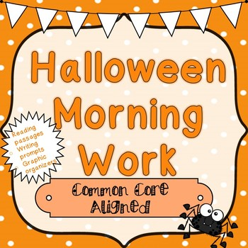 Halloween: Comprehension and Writing!