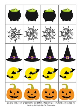 Fun Halloween FREEBIE - 10 different pictures for patterning!