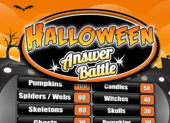 Fun Halloween Game - Family Feud Trivia Powerpoint Game - Mac PC iPad  Compatible
