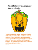 Fun and Creative Halloween ELA Activities