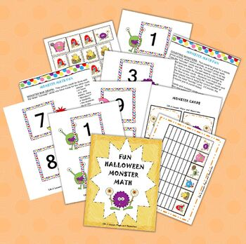 Fun Halloween Monster Math Grades K-1