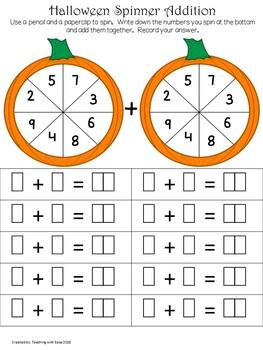 Fun Halloween Pumpkin Math: Addition to 20