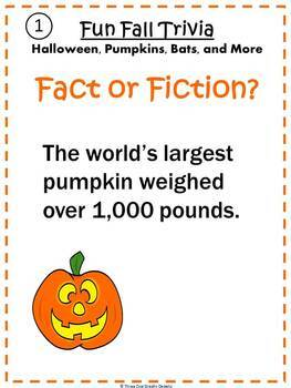 Halloween Fun Fall Trivia Fact or Fiction? Interactive PowerPoint Activity