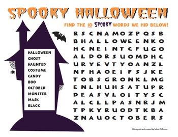 Fun Halloween Word Search