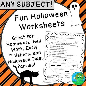 Fun Halloween Worksheets NO PREP