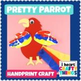 Fun Handprint Parrot Craft