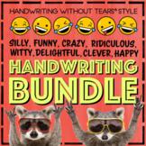 Fun Handwriting Practice Year Long BUNDLE morning work daily writing centers