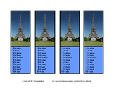 Fun Handy French Numbers Reference Bookmarks