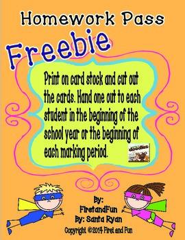 Fun Hero Homework Punch Cards Freebie