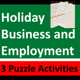 Fun Holiday Business & Employment Puzzles and Activities