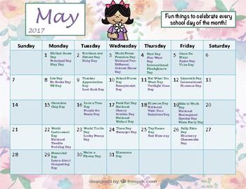 Fun Holiday Calendar Pack March-June 2017
