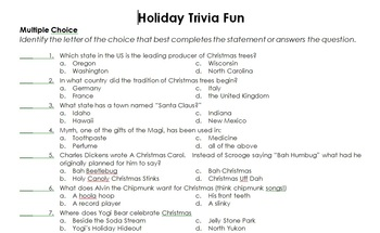 Christmas Holiday Christmas Trivia 100 Questions Activinspire
