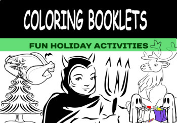 """Fun Holiday """"Coloring Booklets"""" Bundle !"""