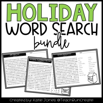 Fun Holiday Word Search Bundle