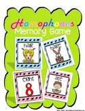 Homophones Memory Game: Literacy Center: Grammar Game: 4th