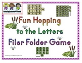 Fun Hopping to the Letters File Folder Game