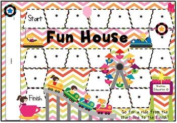 Fun House Blank Board Game (EDITABLE)