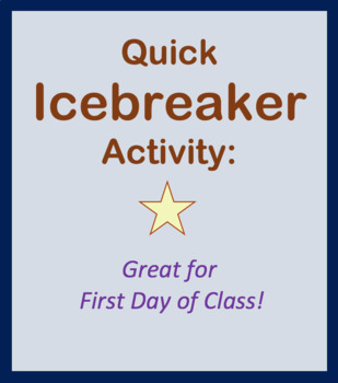 Fun Icebreaker Activity - Scavenger Hunt (Introduces classmates for first day)