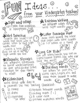 Fun Ideas & Strategies for Parents of Kindergarteners!