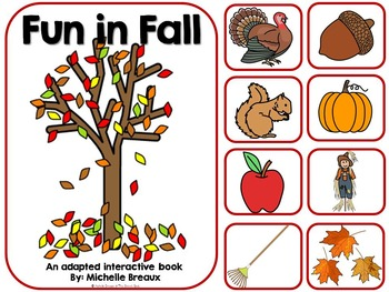 Fun In Fall-Adapted Interactive Book {Autism, Early Childhood, Special Ed}