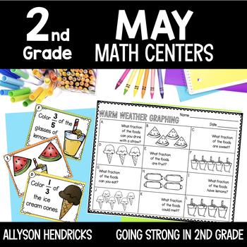 Fun In The Sun 2nd Grade May Math Centers