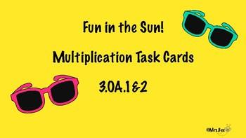Fun In the Sun Multiplication Task Cards