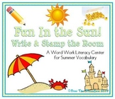 Fun In the Sun! Write / Stamp the Room Activity Pack
