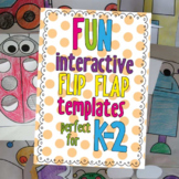 Interactive Notebook Flip Flap Templates - Perfect for K-2