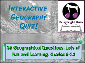 Fun Interactive Geography Quiz General Knowledge