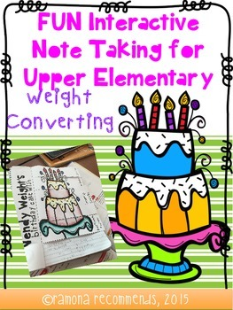 Fun Interactive Note Taking Sheets for Customary Weight