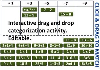 Fun Interactive and Editable Sum Maker & Calculation Math Activities PowerPoint
