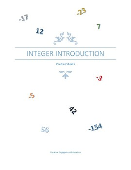 Fun Introduction to Integer Worksheets