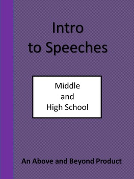Fun Introduction to Speeches for HS and MS Students