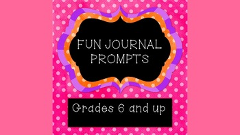 Fun Journal Prompts: Quotes and Fun Facts to Inspire Thinking