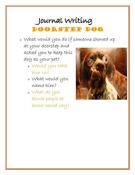 Fun Journal Writing Prompt - Doorstep Dog