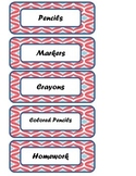 Fun Labels, Aztec, Chevron