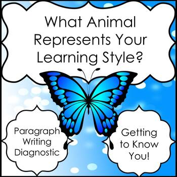 Fun Learning Styles Survey & Paragraph Writing: What Animal Are You?