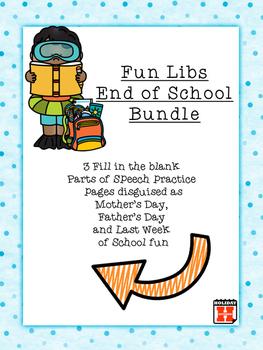 Fun Libs End of School Bundle: Parts of Speech Fun