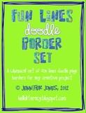 Fun Lines Doodle Border Bundle - (Set of 30)