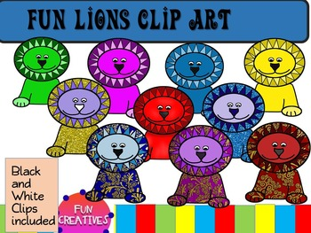 Fun Lions Clip Art