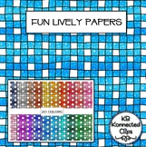 Fun Lively Digital Papers - 20 Vibrant Colors! Doodle Style