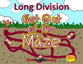 Fun Long Division Worksheets / Mazes