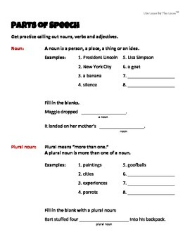 "Six ""Mad Libs"" Style Worksheets with Grammar Review"