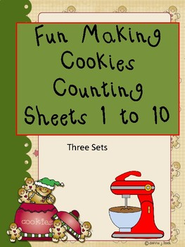 Fun Making Cookies Counting Sheets