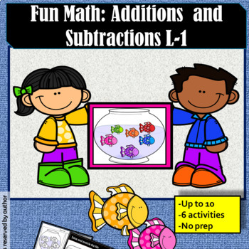 Fun Math: Additions and subtractions Level 1