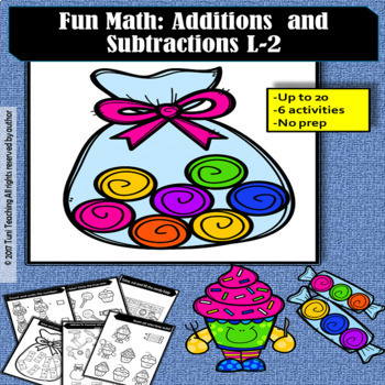 Fun Math: Additions and subtractions Level 2