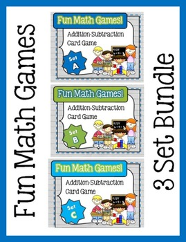 Fun Math Games - Addition / Subtraction (3 Bundle Set)